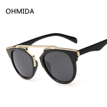 OHMIDA New Fashion Luxury Brand Sunglasses Women Vintage Retro Mirror Sun Glasses Men Cat Eye Sunglass Oculos De Sol Feminino
