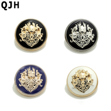 10pcs/lot Brand british style high-grade metal buttons coat jacket buttoned snap fastener Plating metal snap Sewing Supplies