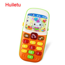 Children Electronic Mobile Phone with Sound Smart Phone Toy Cellphone Early Education Toy Infant Toys Random Colors(China)