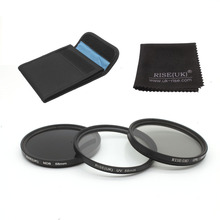 RISE(UK) 58mm 3-Piece UV/CPL/ND8 Filter Kit for Digital SLR Camera & Lens(China)