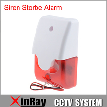 New Indoor Wired Alarm Siren JA103 Strobe Flash Light 12V Home Company  Home Security Alarm System Strobe Siren Horn