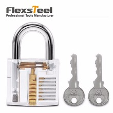 Cutaway Inside View Lock Practice Visible Transparent Padlock Lock Training Trainer Skill Pick for Locksmith tools with 2 Keys