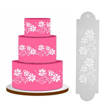2pcs Plastic Printing Cake Stencil Fondant Cake Cookies Mold DIY Making Cake Mold Cutter Decorating Tool Pastry Tools