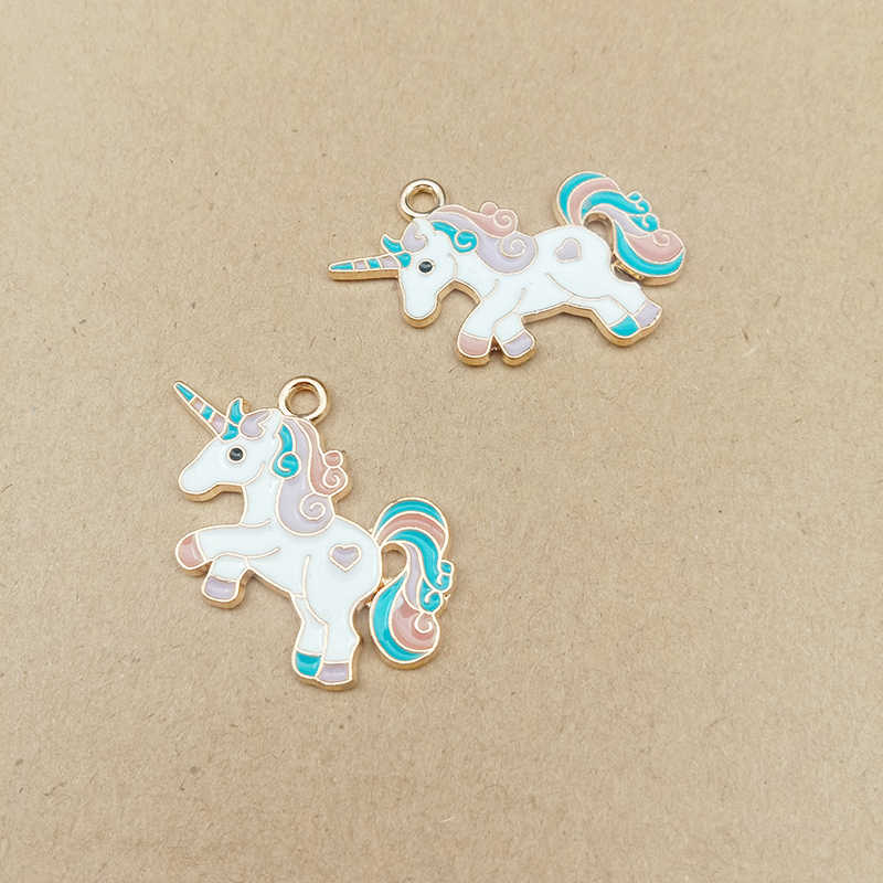 10Pcs Fashion Horse Animal Alloy Charm Pendant For DIY Necklace Jewelry Finding