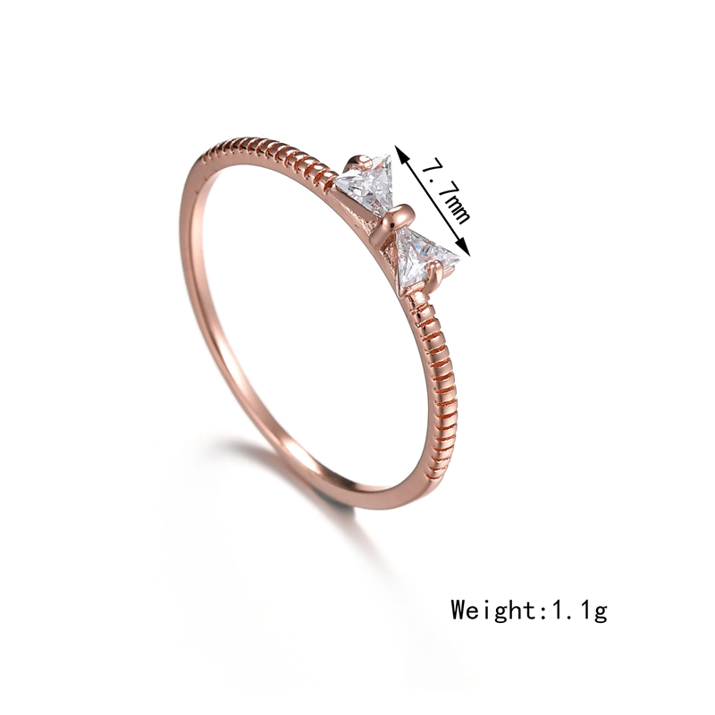 2019 Misscycy Rose Gold Color Crystal Rings For Women Cute Small
