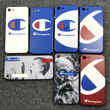 Newest trend Japan popular hard plastic Soft silicon 2 in 1 cover case for iphone 6 S 6S plus 7 7Plus champion personality cases