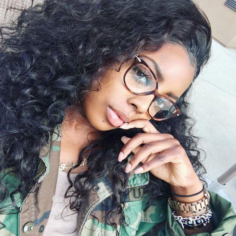 Glueless Full Lace Human Hair Wigs Wavy Front Lace Wigs Unprocessed Virgin Malaysian Water Wave For Black Women 8-26 In Stock<br><br>Aliexpress