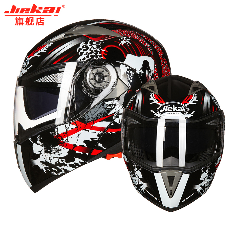 latest high quality motorcycle flip helmet capacete double lens built-in sunshade motorcycle helmet full face helmet