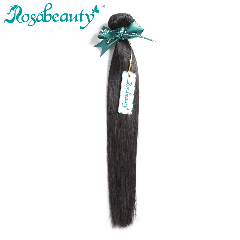 Rosa Beauty Hair Products Brazilian Hair Weave Bundles Straight 100% Human Hair Weft Remy Hair Weaving Shipping Free(China (Mainland))