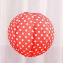 New Year Dot Round Chinese Paper Lantern Birthday Paper Lanterns for Wedding Party Decoration Gift Craft DIY Wholesale Retail(China)