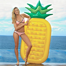 Pineapple Swimming Pool Floats Air Mattress Inflatable Adult Kids Beach Bed Buoy Floating Island Water Boat Toy Summer Party Fun