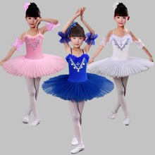 White/Black/Pink Diamond Ballet Dress Children Swan Lake Ballet Costume Girls Tutu Ballet Leotard Dancewear Ballet Costumes Kids(China)