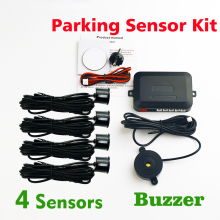 Buzzer Car Parking Sensor Kit (With / No Hole Saw)Backup Radar Sound Alert Indicator Probe System 4 Sensors 22mm 12V 8 Colors