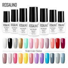 ROSALIND uñas Gel nail polish esmaltes permanentes de uv y led nail art soak off  base top coat white manicura francesa gel decoración uñas UV LED Lamp 7ml magic nail gel manicura permanente primer nail uñas de gel   (China)