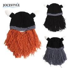 Beanie Cap Men Beard Mustache Hat Winter Warm Barbarian Looter Knit Crochet Cap Casual Thermal Face Mask