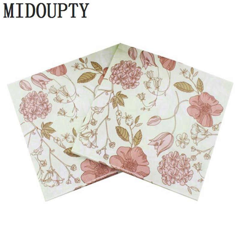 20pcs/set Flowers Paper Napkin Festive\u0026Party Tissue Napkins