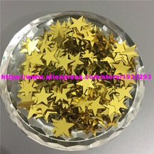 1000Pcs 10mm Golden Star/Heart Loose Sequins Sewing Crafts For Christmas Decoration Ornament Garment Shake Cards scrapbook Diy(China)