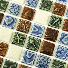 Eastern Mediterranean relief porcelain tiles HMCM1033B for bathroom shower mosaic kitchen backsplash wall floor tiles(China)