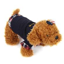 Pet Clothes 1PC Dog Cat Grid Puppy Warm T-Shirt Pet Clothes POLO Shirt Dog Coat Costume Pets Acessorios 17AUG23(China)