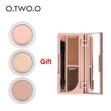 O.TWO.O Buy 3 get 1 gift Buy 3pcs Concealer Cream Makeup Primer Cover Pore Concealer get a Eye brow Cream(China)