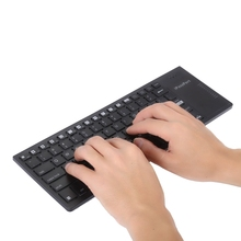 KP - 810- 35H 2.4GHz Wireless Ultra-Slim Multi-media Keyboard with Touchpad and Colorful Backlight Support Windows, iOS, Android