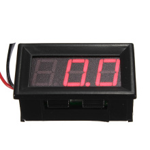 "Mini Digital Voltmeter DC 0-10/30/200V Panel Amp Volt Voltage Meter Tester 0.56"" Red Yellow Blue Green LED Display 3 Wire(China)"