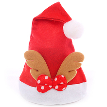 2Pcs Non-woven Fabrics Reindeer Hats Christmas Hat for Children Christmas Decorations Holiday Party Caps Fancy Dress Headgear