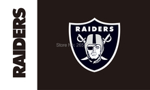 Oakland Raiders LOGO black Flag 3x5FT NFL banner150X90CM 100D  Polyester brass grommets custom flag, Free Shipping