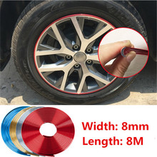 8M Car Chromium Plated Exterior Rim Grill Headlight Sticker Wheel Hub Protector Motorcycle Decal For Kia Toyota BMW Audi Hyundai