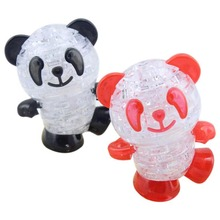Hot Sell Chidrren Educational Toys Cute Panda 3D Crystal Puzzle Jigsaw Panda Model montessori educational Toys  FL