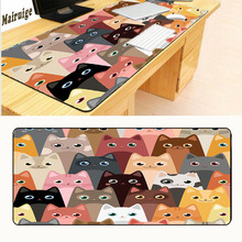Mairuige Cat Collection Anti-slip Mousepad Computer Skin Animation Game Large Overlock Mouse Pad Mat Best Durable Drop Shipping(China)