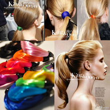 Fashion 6120 supermode horse twisted neon color wig rubber band hair rope wig headband 10pcs/lot