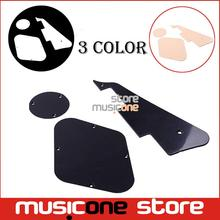 3 IN 1 Black/Cream/White platic Pickguard Cavity Switch Cover For LP guitar