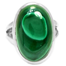 Hand make  Genuine Malachite Ring, 100% 925 Sterling Silver,  Size: 7,  9.1g,  AR0135