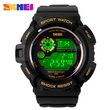 SKMEI Brand Men digital Sports Watches swim waterproof watch colorful LED chronograph Wrist watch rubber strap relogio masculino