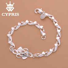 Butterfly Cheapest Fashion silver  rolo chain bracelet  Factory Price CYPRIS famous bracelet women men lady gift wholesale price