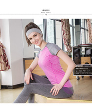 Hot sell Cool t shirt designs Gym athletics camisetas breathable sports fitness patchwork vest shirts wear for female(China)