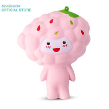 2017 New 12CM Jumbo Kawaii Cute Grapes Cartoon Doll Soft Squishy Slow Rising Phone Strap Bread Bun Cake Sweet Charm Kid Toy Gift
