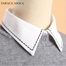 Buy Fashion Black Dotted Line Women White Shirt Fake Collar All-Macth Sweater Detachable Collars Girls B61B71 for $5.19 in AliExpress store