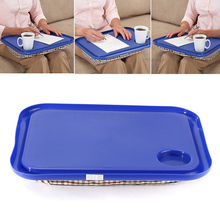 2PCS Portable Handy Lap Tray Table Learning Desk Lazy Tables Drink Food Tray Table Laptop Stand Holder for Bed Camping Mat Pad(China)