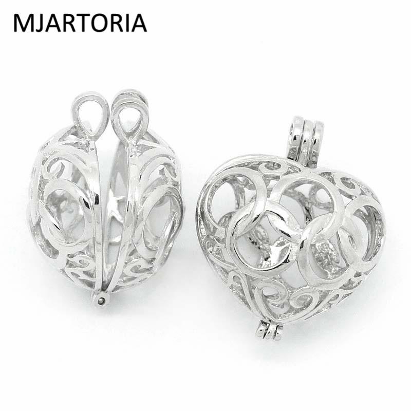 MJARTORIA-3PCs-Bola-Copper-Charm-Pendants-Hollow-Heart-Bead-Cages-Locket-Silver-Fit-Music-Ball-DIY