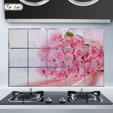 TIE LER 75x45cm Kitchen DIY Foil Oil Wall Stickers Decor Sticker Art Home Decorations Supplies