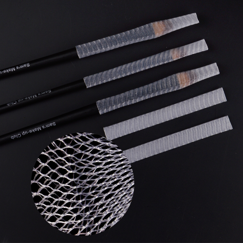 Wholesale 1kg Nylon Sheer Mesh Netting Slip On Make Up Brush Guard Forming Hair Shape Makeup Bristle Protectors<br>