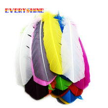 Cheap for Sale 12pcs Multicolor Dyed Loose Goose Feather Wedding Bouquet Decorations Indian Headdress Feathers IF001