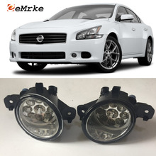 EEMRKE For Nissan Maxima 2007 2008 2009- 9-Pieces Led Halogen Fog Lights 12V 55W Fog Head Lamp Car-Styling