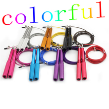 Colourful Professional Sport Fitness Jump Rope/Crossfit Speed Jump Rope/ 3M Aluminum Metal Bearing Adjustable Skipping Rope(China)