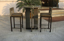 3pcs Rattan Bar Set , Outdoor Garden Table And Chairs(China)