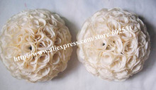 20cm wedding silk kissing ball,beige,option color,option sizeMore quantities more discount decorations for the wedding(China)