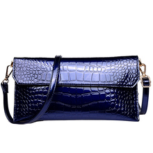 Female Fashion Messenger Bag Women New Style Fashion Trend Cowhide Aslant Envelope Ladies Alligator Crossbody Bag Soft Purse