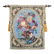 High-end Cotton Floral Wall Tapestry Wall Hanging Tapestries Fabric Moroccan Decor Gobelin Wall Carpet Medieval tapiz pared(China)